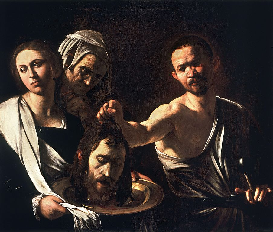 Salome with the Head of John the Baptist, Caravaggio - 1610